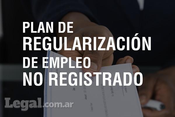 Proyecto de Ley: Plan de Regularización de Empleo No Registrado